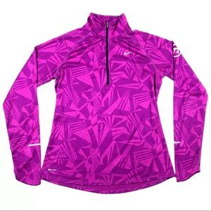 Nike Dri-Fit Athletic Running Quarter Zip Jacket